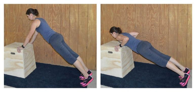 Low-box-push-up 6 Weeks Push Up Schedule - From Knees To Your Toes