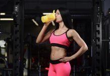 Drinking Protein Shake